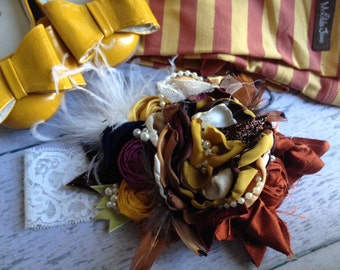 Natures Harvest Headband made to match Matilda Jane and Persnickety Fall 2012