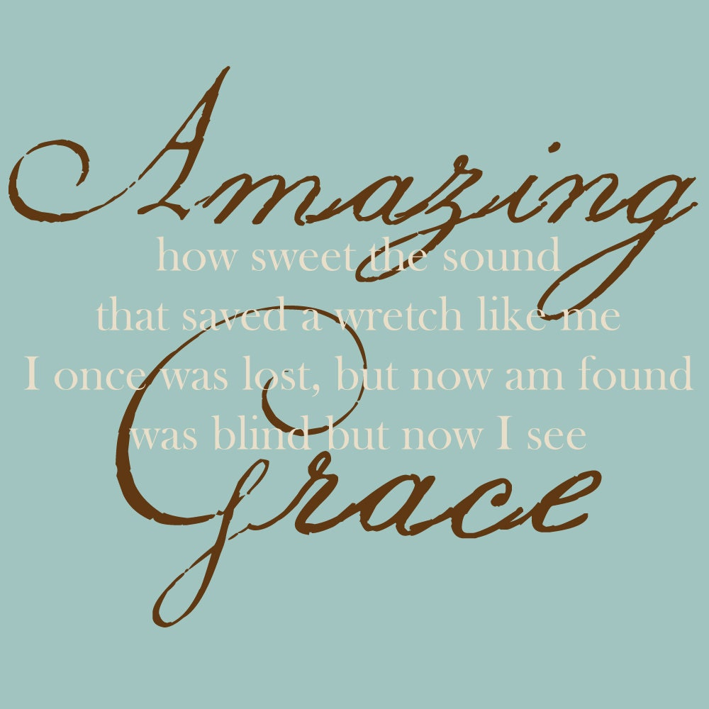 Amazing Grace: Amazing Grace Wall Decal Amazing Grace Wall Art Scripture