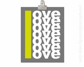 Love Print, Wedding Print, Anniversary Print, Wedding Decor, Modern Home Print, YOU & ME, Charcoal, Yellow, Love, Gifts under 25