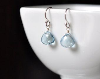 glacial - sky blue topaz earrings