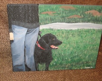 hand painted portrait of your animal on canvas