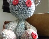 Crochet Toy Teddy Bear Love Bear heart Valentine's Day Easter Birthday