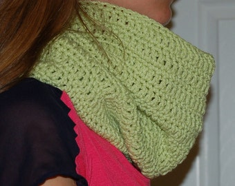 Scarf wrap cowl lime green