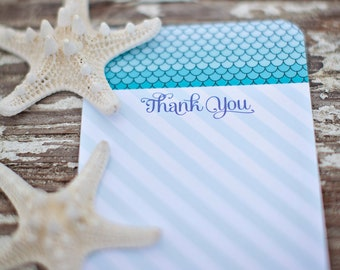Mermaid Party Thank You Card - Printable