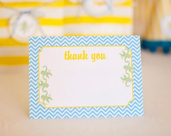 DIY Printable Thank You Card - Blue Monkey Party