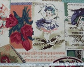 "Vintage rose and angel baby - half yard - vintage fabric, sewing fabric - Check out with code ""5YEAR"" to save 20% off"