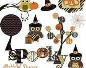 Halloween Clip Art for Personal or Commercial Use - Spooks On Set 2