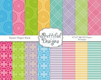 Digital Paper Pack - Personal or Commercial Use - Easter
