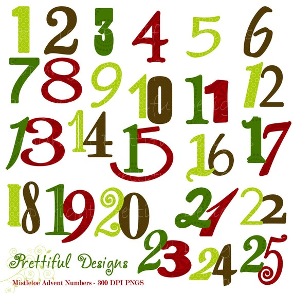 christmas numbers clipart free - photo #5