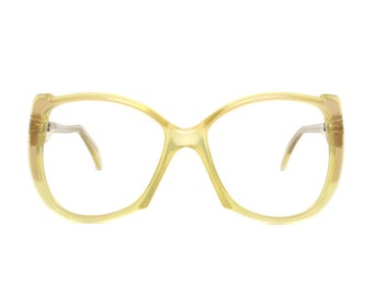 Transparent Yellow Vintage Glasses - Zollitsch - 1980's Eyeglasses