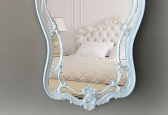 Hollywood Regency Hour Glass Mirror, Shabby Chic Mirror
