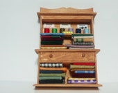 Dollhouse Miniature Sewing Supply Cabinet Hutch 2