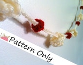 INSTANT DOWNLOAD - Popcorn & Cranberry Garland Crochet Pattern