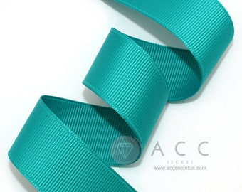 5Yards Blue Green Solid Grosgrain Ribbon - 5mm(2/8''), 10mm(3/8''), 15mm(5/8''), 25mm(1''), and 40mm(1 1/2'')