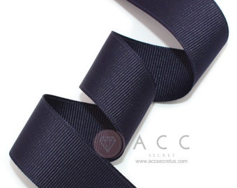 Navy Grosgrain Ribbon - 5mm(2/8''), 10mm(3/8''), 15mm(5/8''), 25mm(1''), and 40mm(1 1/2'')