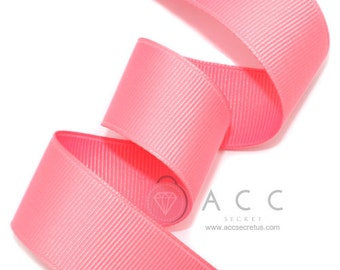 Rose Pink Grosgrain Ribbon - 5mm(2/8''), 10mm(3/8''), 15mm(5/8''), 25mm(1''), and 40mm(1 1/2'')