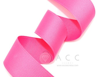 Hot Pink Grosgrain Ribbon - 5mm(2/8''), 10mm(3/8''), 15mm(5/8''), 25mm(1''), 40mm(1 1/2'')