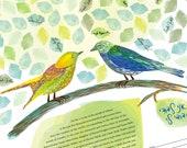 Signing Tree - Love Birds...