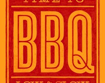 Time to BBQ art print