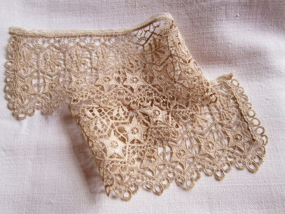 Antique vintage French handmade lace trim doll lingerie