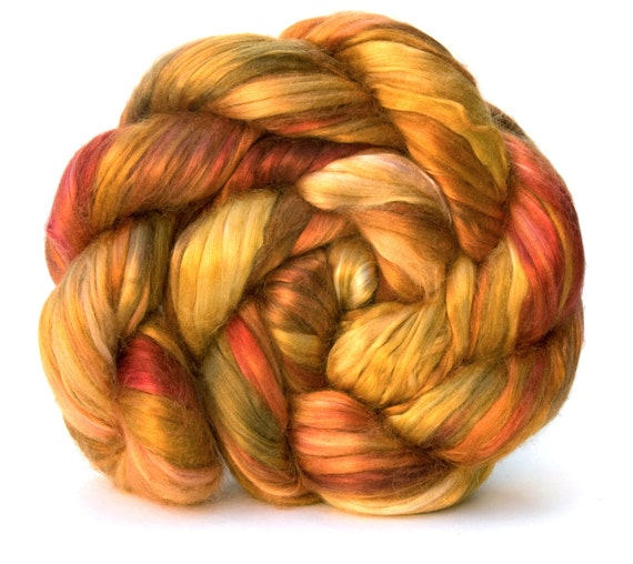 DYNAH MIGHT - 2.25oz Hand-Dyed Mulberry Silk Sliver