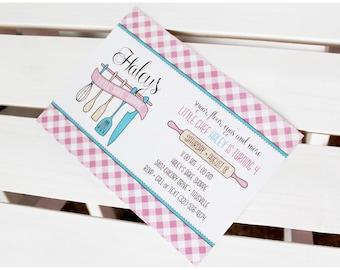 Bake Shoppe Collection. Invitation. DIY Printable Design. Pinkadot Shop