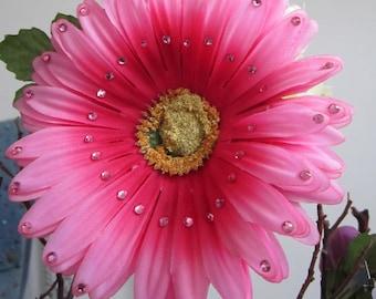 SALE- Pink Gerber Daisy hair flower