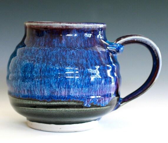 Large Coffee Mug, handmade ceramic cup, ceramic stoneware mug, holds 22 oz