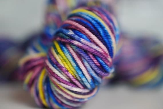 North Shore Lupines:  Lux MCN Worsted Lt. Yarn