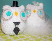 Wedding Cake Topper Owls- Set of 2