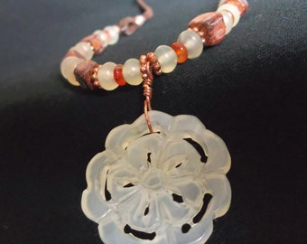 New Jade and Carnelian Necklace