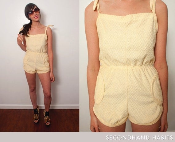 Yellow Terry Cloth romper