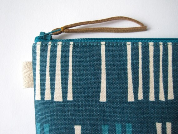 Picket, Dawn Colorway, Outside Oslo. Jessica Jones for The Needle Shop. Fabric Pencil Case, Pencil Pouch.