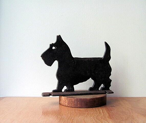 Scottie Dog Boot Scraper Door Stop Marked Virginia Metalcrafters Cast Iron Scottie Dog Terrier Neat Piece