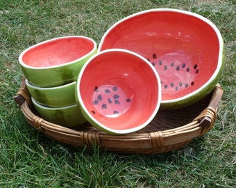 Watermelon Bowls Serving Set