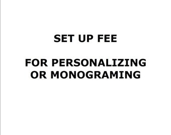 Add Digitizing Fee To Your Cart For Personalizing Or Monograming