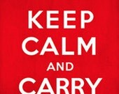 Keep Calm Print - Keep Calm and Carry On Printable Poster DIY