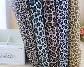 Cotton Fabric Cloth -DIY Cloth Art Manual Cloth -Leopard Grain 55 x19Inches