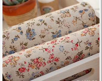 Cotton Linen Fabric Cloth -DIY Cloth Art Manual Cloth -Elegant Broken Flower  55x19 Inches