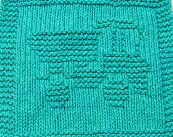 Knitting Cloth Pattern - DUMP TRUCK - 2 - PDF