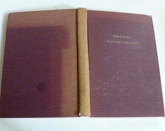 Walter de la Mare, Winged Chariot, 1951, First Edition,  Books, Poetry, Poems, Entertainment, Vintage Books,