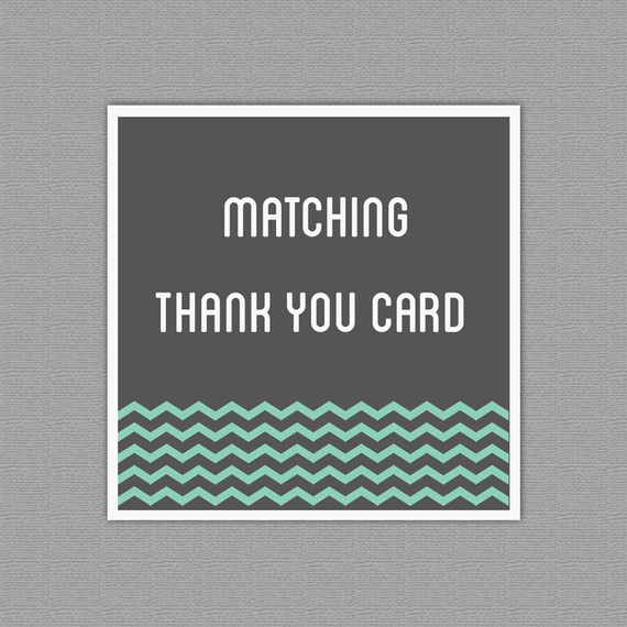 Matching Thank You Card - Made to match one of my designs