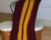 Burgundy and Gold Scarf
