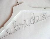 Personalized Wedding Name Hanger - Custom Bridal Name Hanger, Personalized Wedding Name Hanger, Bridesmaid Name Hanger, Wedding Date Hanger