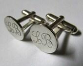 round cufflinks round initial cufflinks cuff links groomsmen gift best man gift groom wedding sterling silver cufflinks wedding cuff links