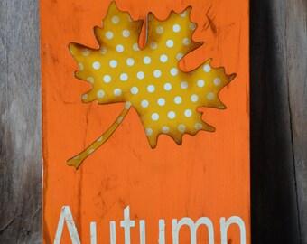 Fall/Autumn Wood Sign