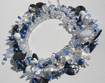 Sky  - Blue Fringe Bracelet