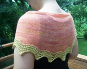 Knitted Wool Light Shawlette Shawl