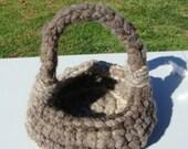 New Signature Extreme Core Spun Rug Yarn Crochet Into A Soft Basket