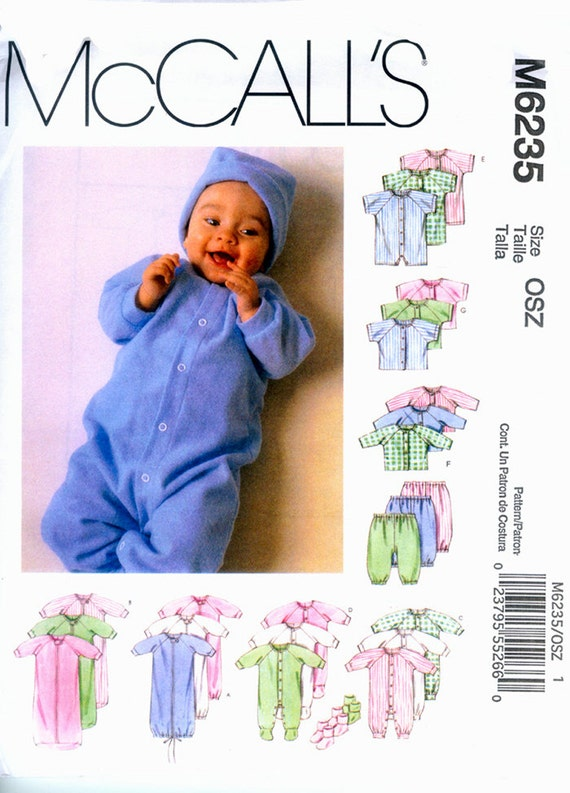 McCall's Sewing Pattern 6235 for Infants'  Layettes